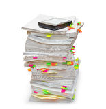 Folders of documents with a hard disk Stock Image