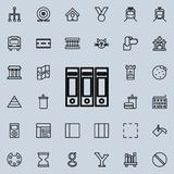 Folders for documents icon. Detailed set of minimalistic line icons. Premium graphic design. One of the collection icons for websi. Tes, web design, mobile app Royalty Free Stock Photography