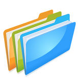 Folders with documents Stock Photography