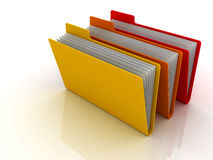 Folders and files Royalty Free Stock Photography