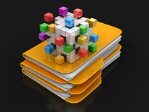 Folders and files with Business teamwork concept Royalty Free Stock Photo