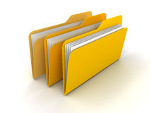 Folders and files. Colored folders and files rendered in 3D Stock Photography