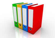 Folders and files 2. Colored folders used in the world of business and education Royalty Free Stock Photography