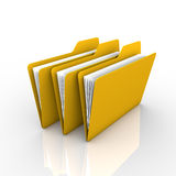 Folders and files. Described in the filing of documents and visual. The presentation and available on the internet Royalty Free Stock Image