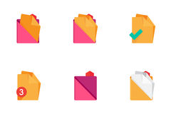 Folders and Files Icons. Set 3. Stock Images