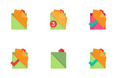 Folders and Files Icons. Set 2. Stock Photography