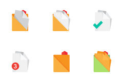 Folders and Files Icons. Set 1. Royalty Free Stock Photography