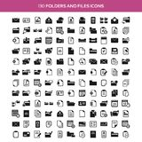 Folders and files icons Royalty Free Stock Image