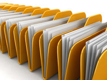 Folders and files. Image with clipping path Stock Photography