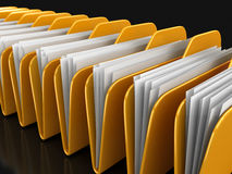 Folders and files. Image with clipping path Royalty Free Stock Photo
