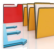 Folders Or Files Shows Administration Stock Photos