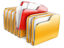 Folders and files. Royalty Free Stock Photo
