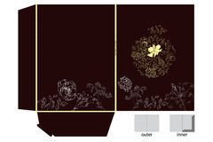 Folders with floral ornament Stock Image