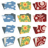 Folders with funky designs Stock Image