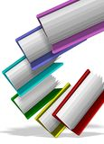 Folders in group. A group of colorful folders suspended in the air Stock Images