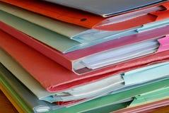 Folders H Stock Photo