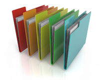 Folders Icon. With variations of colors Royalty Free Stock Photos