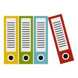 Folders icon, flat style Stock Photo
