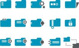 Folders Icon Set royalty free stock photo