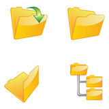 Folders Icon Set Illustration Stock Photos