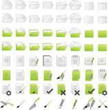 Folders icons Stock Image