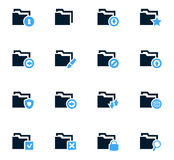 Folders icons set. Folders icon set for web sites and user interface Royalty Free Stock Images