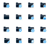 Folders icons set. Folders icon set for web sites and user interface Royalty Free Stock Photography