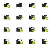 Folders icons set. Folders icon set for web sites and user interface Stock Images