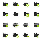 Folders icons set. Folders icon set for web sites and user interface Royalty Free Stock Photo