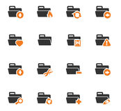 Folders icons set. Folders icon set for web sites and user interface Royalty Free Stock Image