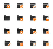 Folders icons set. Folders icon set for web sites and user interface Stock Image