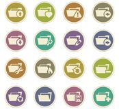 Folders icons set. Folders icon set for web sites and user interface Stock Photo