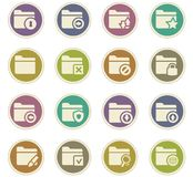 Folders icons set. Folders icon set for web sites and user interface Stock Photography