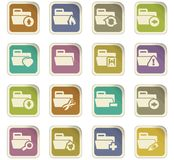 Folders icons set. Folders icon set for web sites and user interface Royalty Free Stock Photos