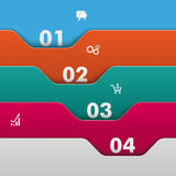 Folders Infographic. Infographic with colored folders and white numbers Stock Photo