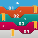 Folders Infographic Orange Flags. Infographic with colored folders and 5 options Royalty Free Stock Photography