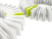 Folders isolated on white Stock Photography