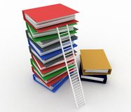 Folders and ladder. Royalty Free Stock Photography