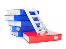Folders and ladder Royalty Free Stock Images