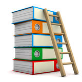Folders With Ladder Royalty Free Stock Image
