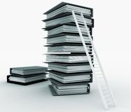 Folders and ladder. Conception of career advancement Stock Images