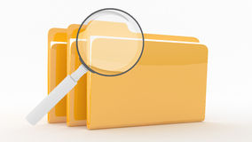 Folders with lens Stock Photos