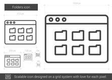 Folders line icon. Royalty Free Stock Image