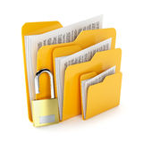 Folders lock Royalty Free Stock Photo