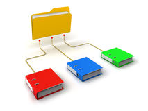 Folders Network Structure. White Background Royalty Free Stock Images