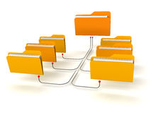 Folders Network Structure. White Background Royalty Free Stock Image