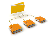 Folders Network Structure. White Background Stock Photography