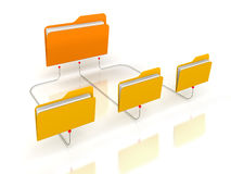 Folders Network Structure. White Background Royalty Free Stock Photography