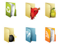 Folders with objects Stock Image