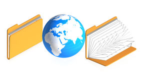Folders with objects Royalty Free Stock Photo